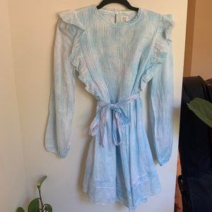 NEW lace Aritzia Elia dress in blue cloud wash